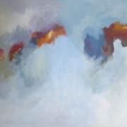 Grey abstract mit Blattgold