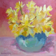 Blue Bowl with daffodils
