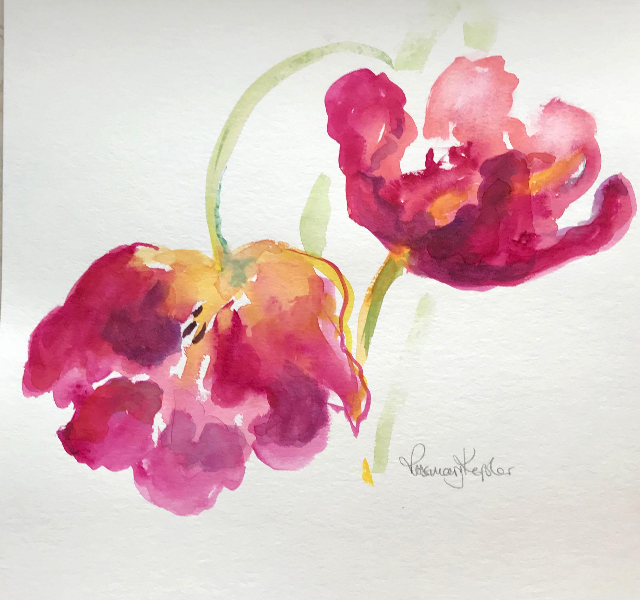 Galerie Rosemary Keßler Tulpen Malen An Einem Grauen Januar Tag