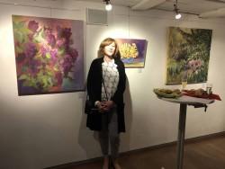 Rosemary Keßler im Bauhaus, Kulmbach bei der Ausstellungseröffnung