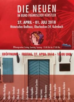 """Ausstellung """"Die Neuen"""" im Bund Fränkischer Künstler - Badhaus, Kulmbach"""